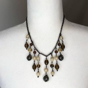 Vintage glass beaded statement statement necklace